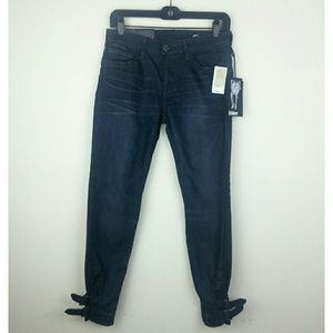 William Rast Coco Skinny Buckle Ankle Crop Jeans